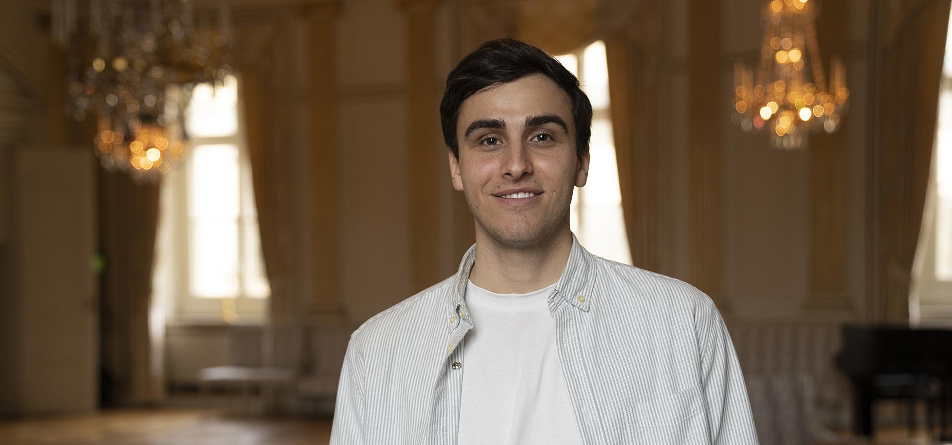 KFUMaren Daniel Samuelsson som representerar Sveriges unga i FN
